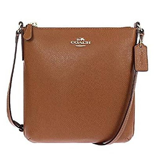 Coach  Leather Cross-body File Bag in Saddle
