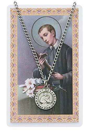 Pewter Silver St. Gerard Medal & 24