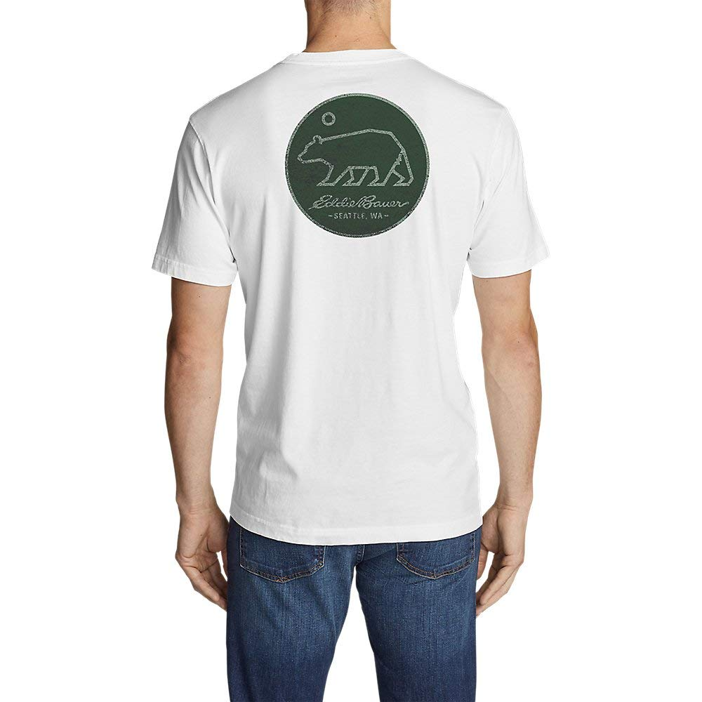 Eddie Bauer Mens Graphic T-Shirt Circle Bear