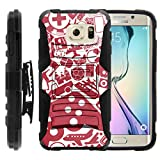 TurtleArmor | Compatible for Samsung Galaxy S6 Edge Case | G925 [Hyper Shock] Armor Rugged Hybrid Cover Kickstand Impact Silicone Holster Clip Video Games Design - Gaming Collage