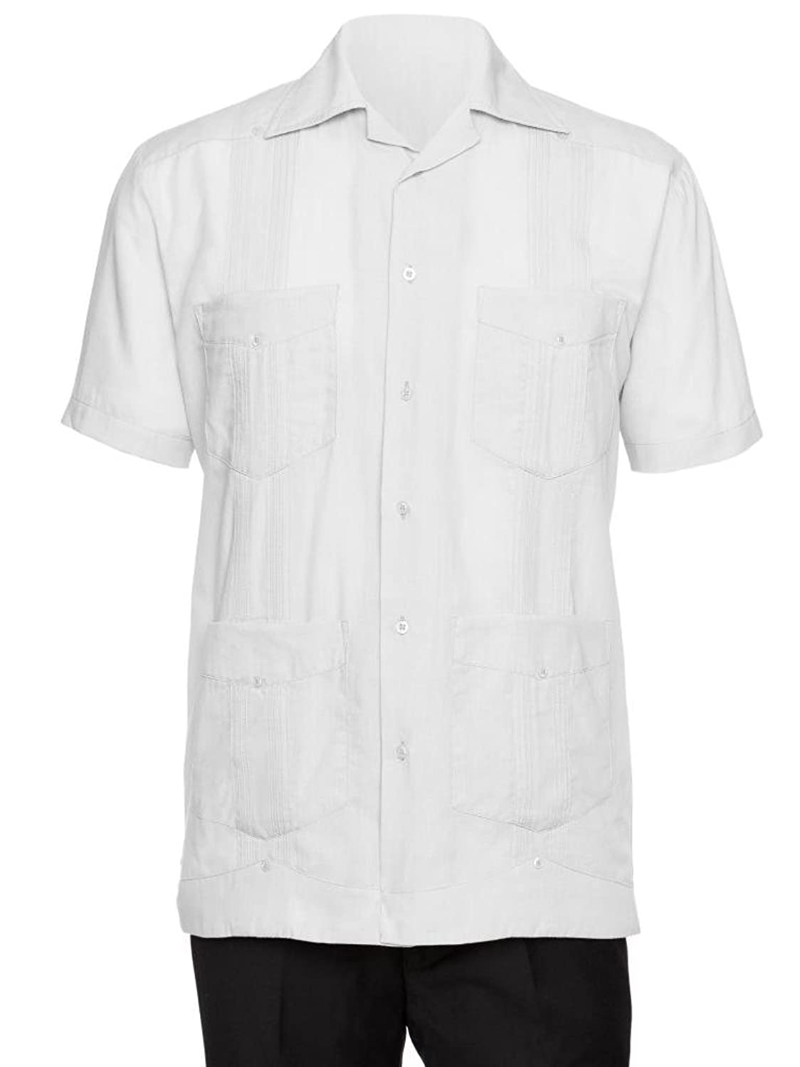 1930s Style Mens Shirts  Mens Short Sleeve Cotton blend Guayabera Shirt $26.99 AT vintagedancer.com