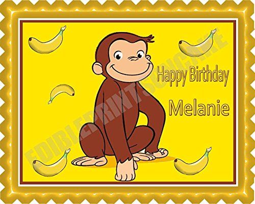 Curious George Edible Cake Decoration  from images-na.ssl-images-amazon.com