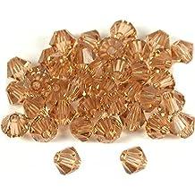 40 Light Topaz Bicone Swarovski Crystal Beads 5301 4mm