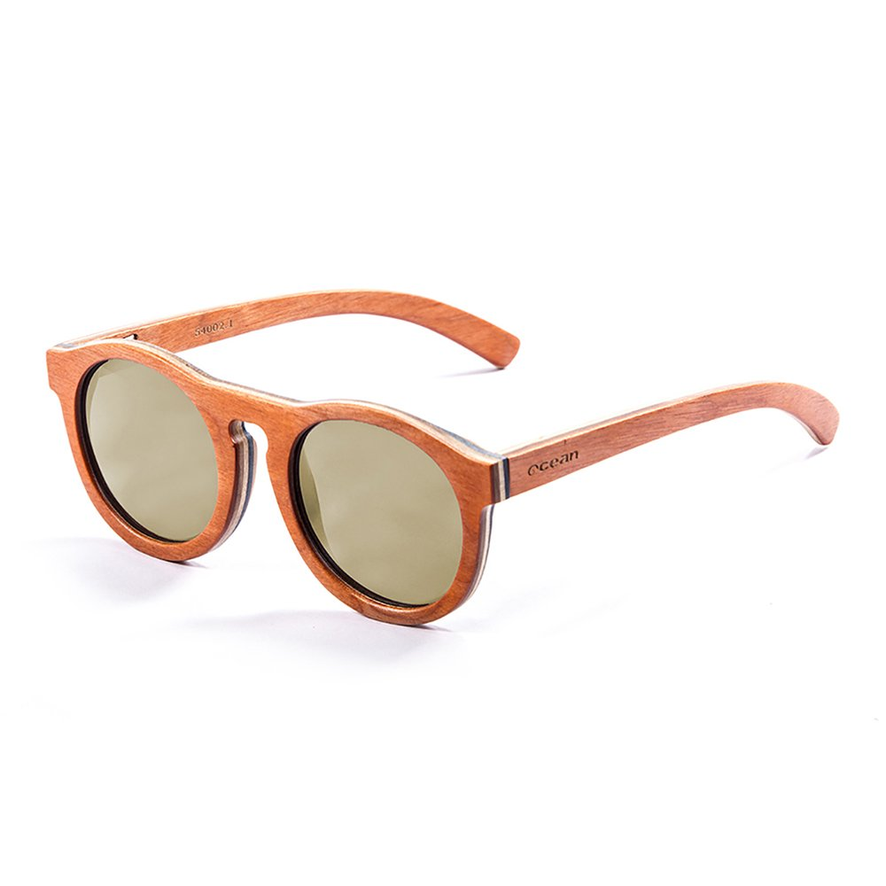 Ocean Sunglasses Fiji Lunettes de Soleil Mixte Adulte, Skate Wood Orange Frame/Revo Yellow Lens