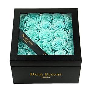 Dear Fleurs Handmade Preserved Flower Medium Square Roses Box, Fresh Rose, Eternity Rose, Gift for Valentine's Day, Anniversary, Birthday 79