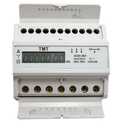 Compteur Alternatif Electrique TRIPHASE WATTMETRE n.Mid 220//230 Rail DIN ZS4