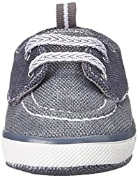 Baby Deer Canvas Deck Shoe (Infant/Toddler), Navy/Grey, 3 M US Infant
