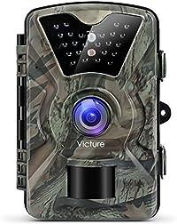 Victure Cámara de Caza Vigilancia 12MP 1080P IP66 Impermeable PIR Sensor de Movimiento Visión Nocturna 90 ° Angular para Fauna Seguridad Hogar Mascota Animal
