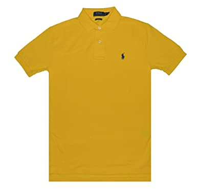 Polo Ralph Lauren Mens Classic-Fit Mesh Short sleeve Polo (Athletic Gold, X