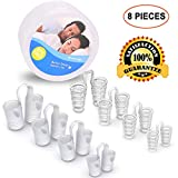Anti Snoring Devices, Snoring Solution Snore Stopper Nose Vents Snore Nasal Dilators Snore Reducing Sleep Aids for Ease Breathing 8 Set Clear
