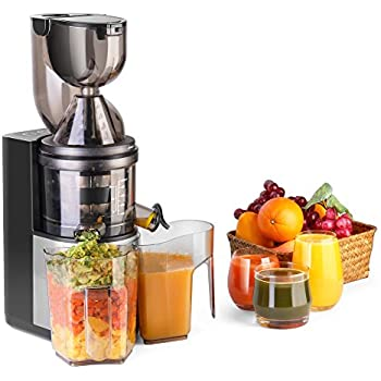 Slow Juicer With Salad Maker : Amazon.com: Flexzion Masticating Juicer Machine - Slow Cold Press Juice Extractor Maker Electric ...