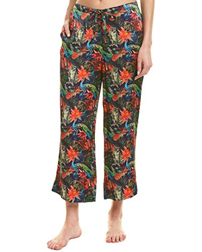 commando Womens Wide Leg Silk Pant, S, Blue