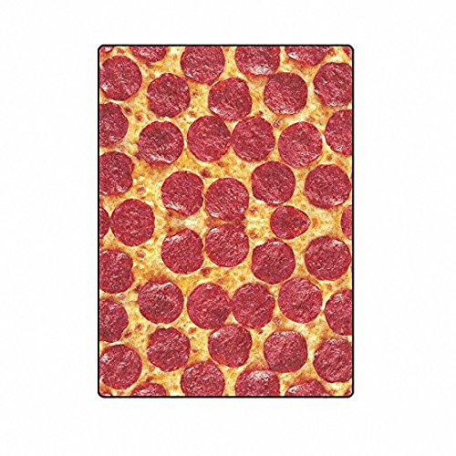 QH with Funny King Pizza Velvet Plush Throw Blanket(Large) Super Soft and Cozy Fleece Blanket Perfect for Couch Sofa or Bed (Novelty Fleece Fabric)