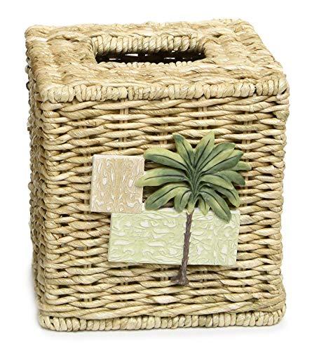 Bacova Guild Citrus Palm Tissue Cube Holder