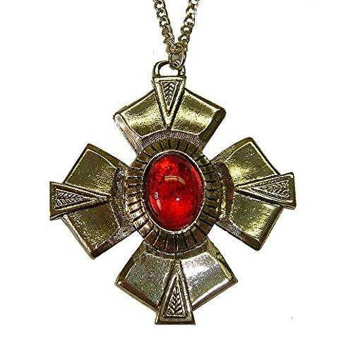 Vintage Charm Halloween Vampire Medallion -