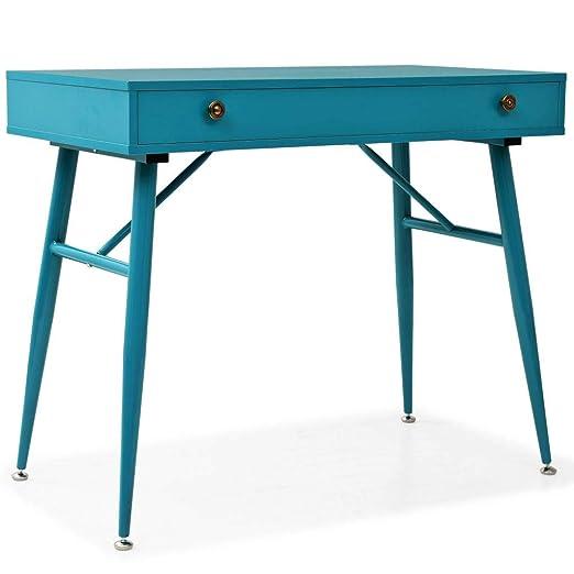 vidaXL Mesa Ordenador Escritorio Cajón Verde Mueble Estudio ...