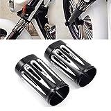 Deep Cut Billet Aluminum Fork Boot Slider Cover For Harley Davidson Touring Models 1984-2013 (Black)