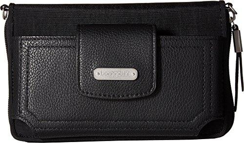 Baggallini Women's New Classic RFID Phone Wallet Crossbody Black One Size