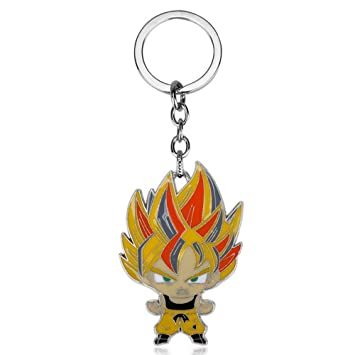 CLEARNICE Llavero Hot Anime Dragon Ball Llavero Metal Son ...