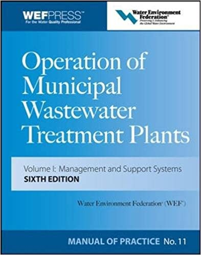 Operation of Municipal Wastewater Treatment Plants (3-Volume Set)