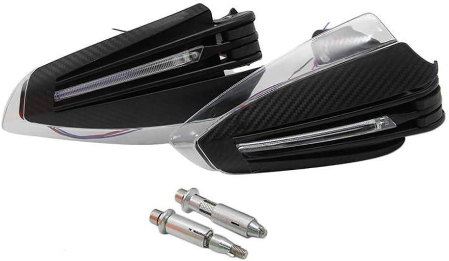 Kecheer Universal 7//822mm Accesorios de motocicleta Protectores de manos con LED Luz de se/ñal de giro Protectores de mano de motocicleta