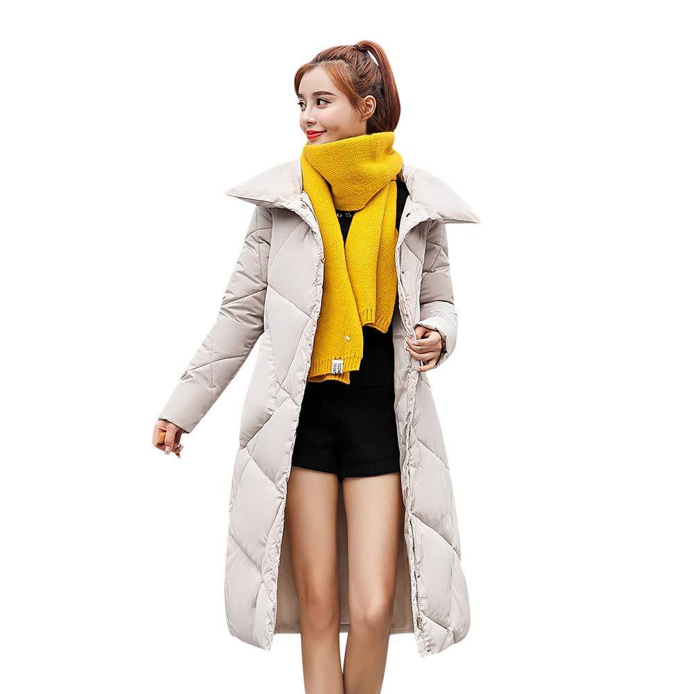 NPRADLA 2018 Damen Mantel Herbst Frauen Jacken Winter Oberbekleidung Lose Knopf Lange Baumwolle gefütterte Taschenmäntel