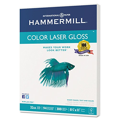 (Color Laser Gloss Paper, 94 Brightness, 32lb, 8-1/2 x 11, White, 300 Sheets/Pack, Sold as 2)
