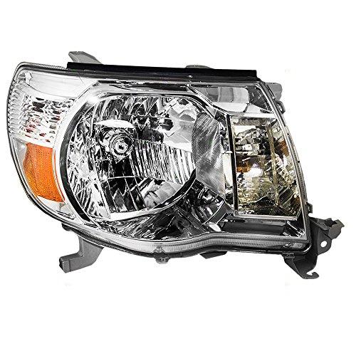 Passengers Headlight Headlamp with Chrome Bezel Replacement for Toyota Pickup Truck 8111004163 AutoAndArt