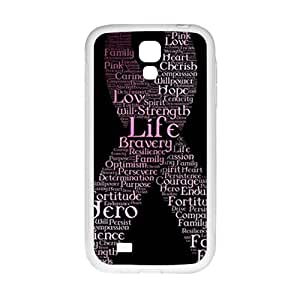 breast cancer ribbon with words Phone Case for Samsung Galaxy S4 Case
