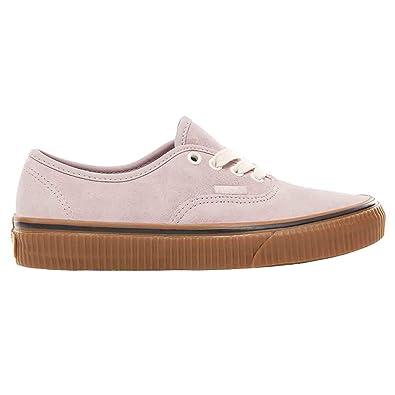 ba1ff635d21 Vans VN-0A38EMUKP  Kids Authentic Suede Violet Ice Embossed Gum Sneakers (7