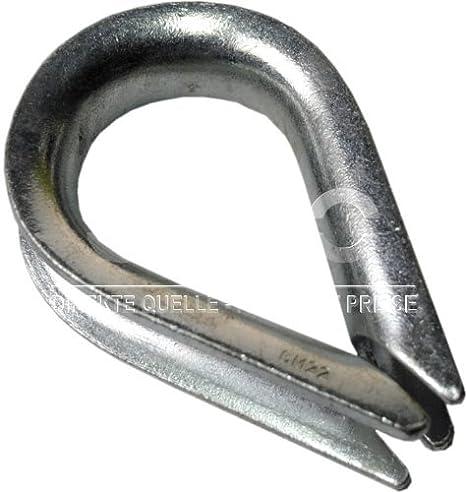 20 pc/s câble acier cosse coeur pour cable 4mm galvanisé DIN 6899B DQ-PP