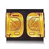 TopoGrow D-Door 96″x96″X78″ Indoor Grow Tent Room 600D Mylar High Reflective non Toxic Hut, 8'X8′ Review