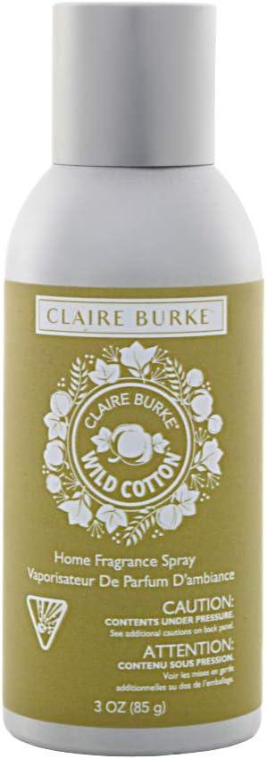 Claire Burke Room Spray Freshener, Wild Cotton Scent 3 oz, Pack of 1