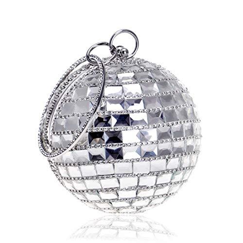 Femmes Mariage Banquet Bal Silver Sac De Soirée À Pour Fête Bag Vintage Cijfay Silver Drill color Mariée Motif xR4Ffq0