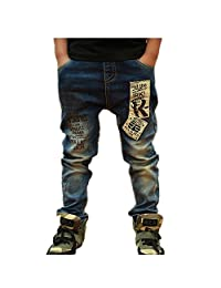 BEIBEI Kids Big Boys Jeans Children Spring Casual Pants for Boys 3-14 Years