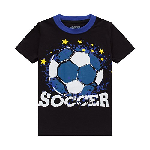 wildsoul Boys T Shirts Short Sleeves Soccer Graphic 100% Cotton Toddler Top Size 2T