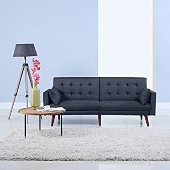 Amazon Com Divano Roma Furniture Modern Tufted Linen