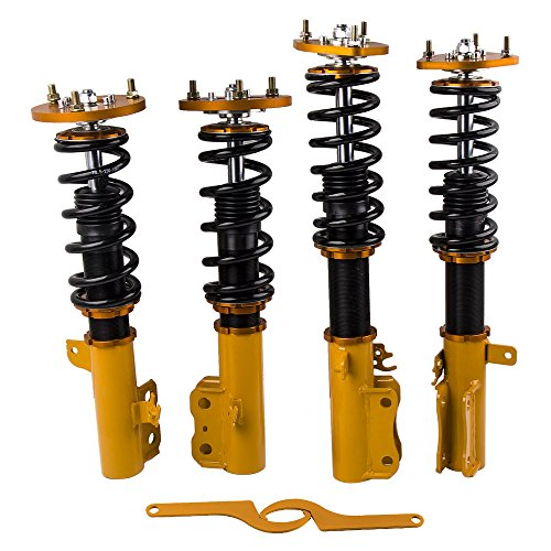 Front & Rear Coilovers Shocks Struts for Toyota Camry 92-01/Avalon 95-03/Solara 99-03 / for Lexus ES300 Coilover Adjustable Height Coil Springs Suspensions - Front Adjustable Coilover Shocks