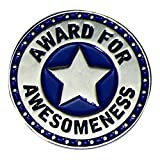 Award for Awesomeness Blue and Silver Appreciation Award Lapel Pins, 6 Pins