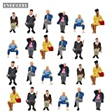 #5: P4803 24 pcs All Seated Figures O scale 1:43 Painted People Model Railway NEW