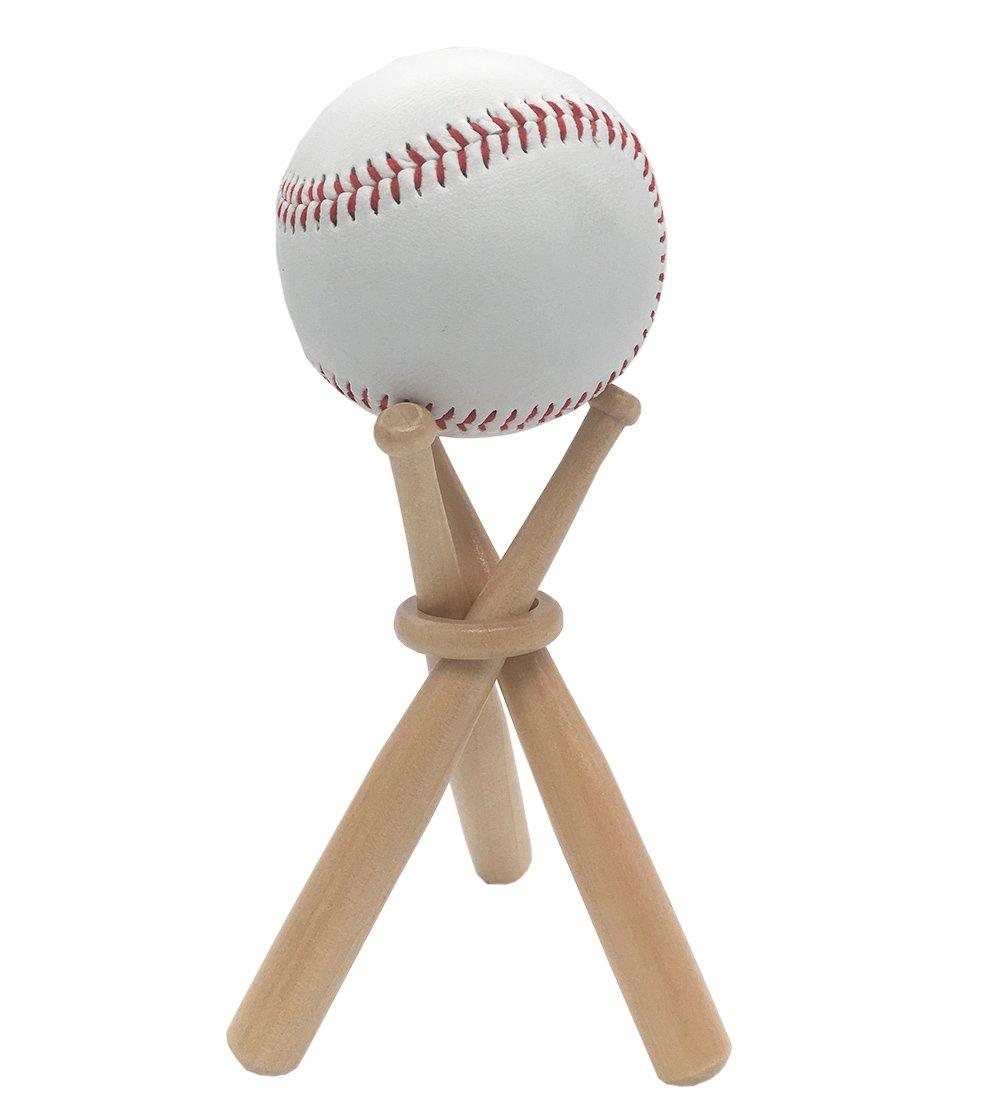 Baseball Stand Baseball Stand Holder Wooden Base Ball Stand Display Holder 1 pack FOLAI FBA_FENDI2001