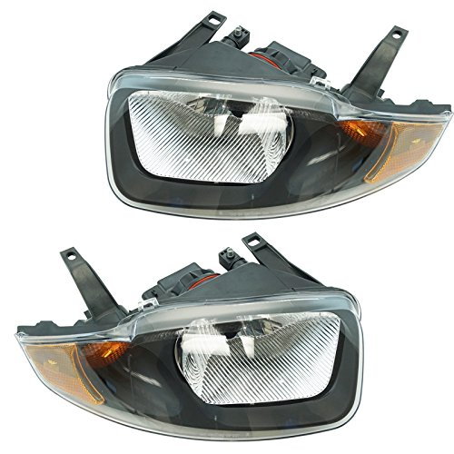 Headlights Headlamps Left & Right Pair Set for 03-05 Chevy -