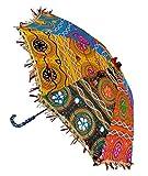 Lal Haveli Handmade Embroidery Work Design Indian Umbrella 21 x 26 Inch