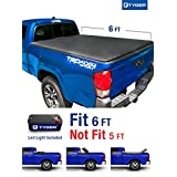 Tyger Auto TG-BC3T1531 TRI-FOLD Truck Bed Tonneau Cover 2016-2018 Toyota Tacoma | Fleetside 6' Bed | For models with or without the Deckrail System