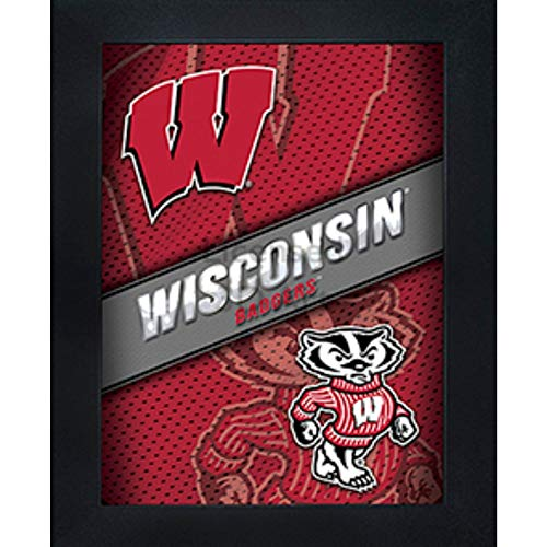 (Wisconsin Badgers 3D Poster Wall Art Decor Framed Print | 14.5x18.5 | UW Lenticular Posters & Pictures | Gifts for Guys & Girls College Dorm Room & Bedroom | NCAA Bucky Team Fan Logo & Mascot Picture)