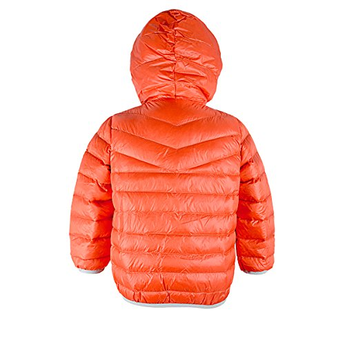 Jacket Girls' Sunset Red Coats Zando Hoodie Outerwear Feather block Down Grey Big Duck Quilted 6wxUfR