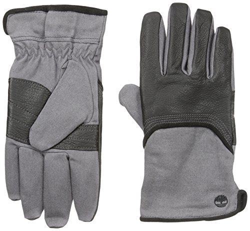 Timberland Mens Wax Canvas and Deerskin Glove Black
