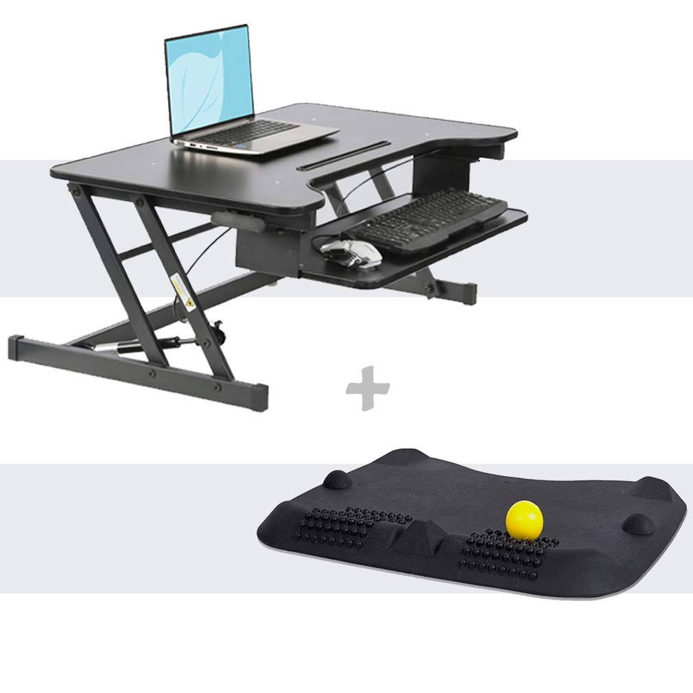Amazon Com 32 Platform Height Adjustable Standing Desk Riser