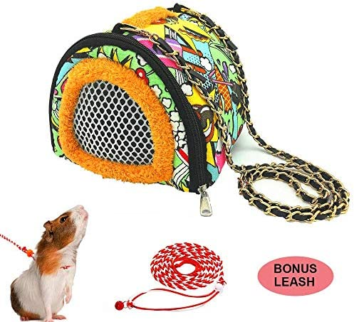 ADOGGYGO Small Animals Hamster Carrier BagStrap Breathable Portable Outgoing Bag for Hamster Hedgehog Squirrel mice Rats Sugar Glider / ADOGGYGO Small Animals Hamster Carrier BagStrap Breathable Portable Outgoing Bag for Hamster He...