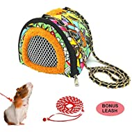 ADOGGYGO Small Animals Hamster Carrier Bag with Strap Breathable Portable Outgoing Bag for Hamster Hedgehog Squirrel mice Rats Sugar Glider